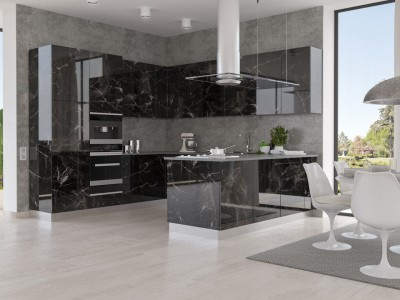 Crystal decor Marmo Nero