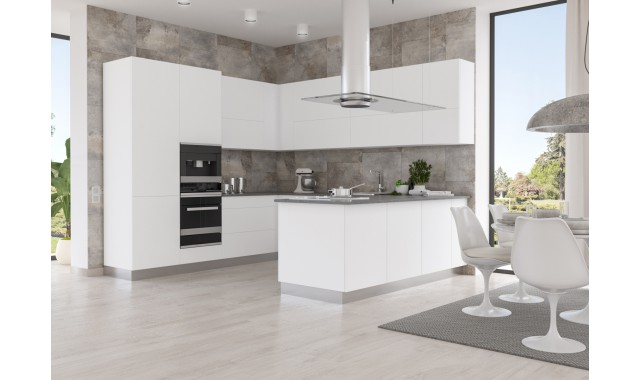 Фасады для кухни Crystal matt Bianco