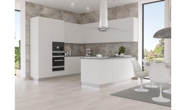 Фасады для кухни  Crystal matt Nebbia