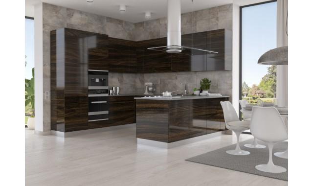 Инновационный фасад для кухни Terra Deсor Черное дерево