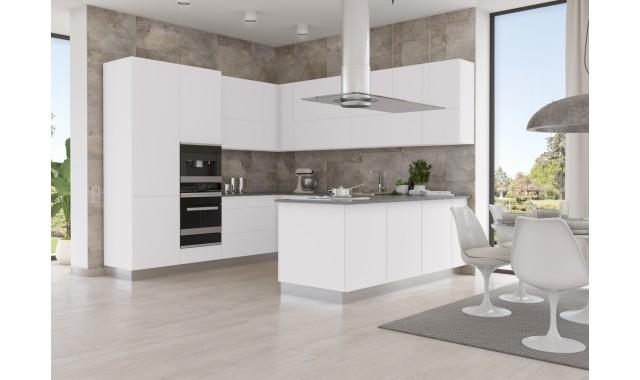 Инновационный фасад для кухни Velluto Bianco Alaska  0030