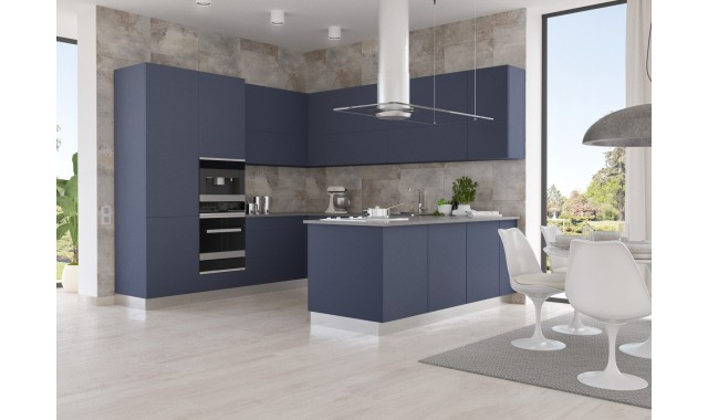 Инновационный фасад для кухни Velluto Blu Fes 0754