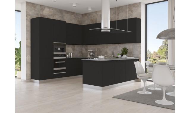 Инновационный фасад для кухни Velluto Nero Ingo 0720