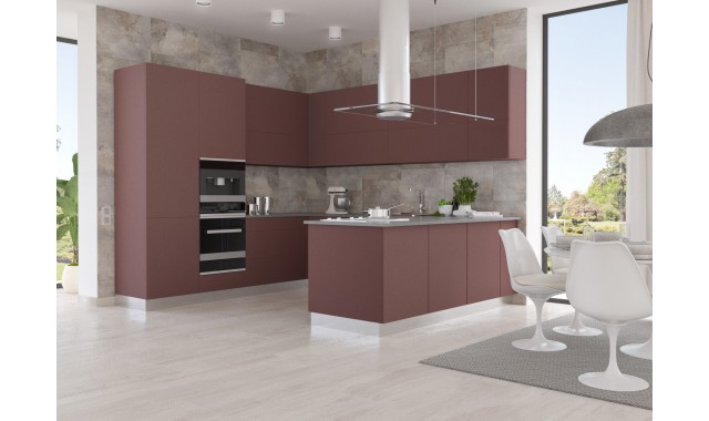 Инновационный фасад для кухни Velluto Rosso Jaipur 0751
