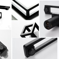 Дизайнерский смеситель Cube в черном цвете кубической формы