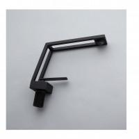 Дизайнерский смеситель Cube R однорычажный в черном цвете кубической формы