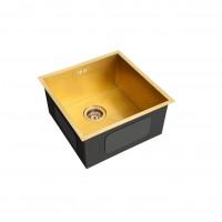 Мойка для кухни в золотом цвете дизайнерская EMAR EMB-112 золото