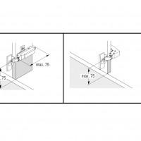 CORNERSTONE Swing Rail Lava Grey, 450 мм в угловой модуль 900 мм